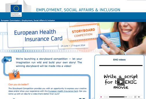 European Health Insurance Card promotion