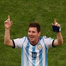 Lionel Messi celebrates after Argentina defeated Belgium to advance to the World Cup semi-final