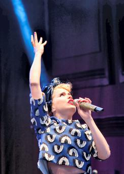 Paloma Faith performing at the Groove Festival Kilruddery House 2014