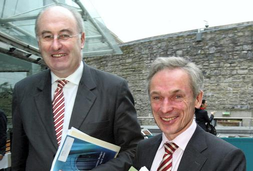 Fine Gael's Phil Hogan, left, and Richard Bruton