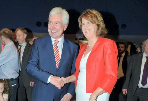 Alex White and Joan Burton