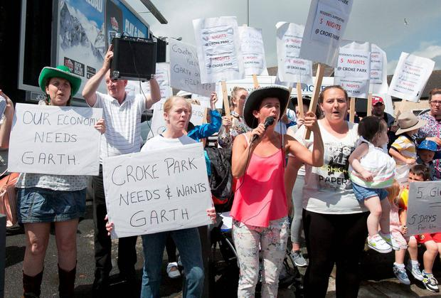 Croke Park locals protest against moves to cancel the concerts. Photo: Collins