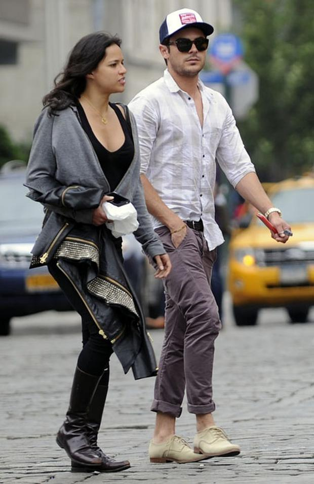 Zac Efron and Michelle Rodriguez pictured together in New York.