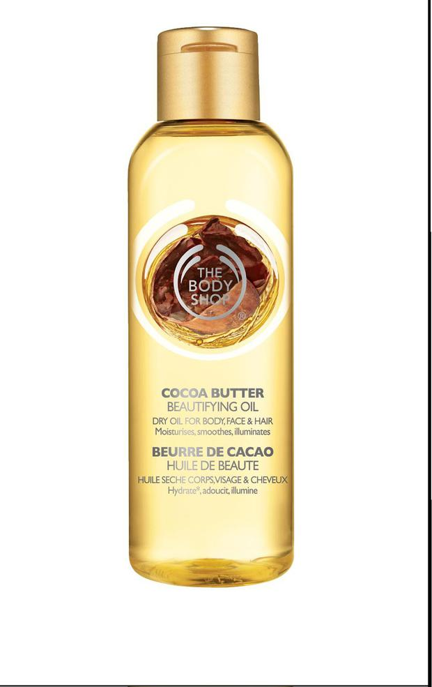 The Body Shop Cocoa Butter Beautifying Oil, €15