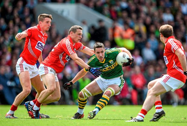 Cork failed to get to grips with Kerry, particularly Declan O'Sullivan, during their Munster SFC final defeat. Photo: Brendan Moran / SPORTSFILE