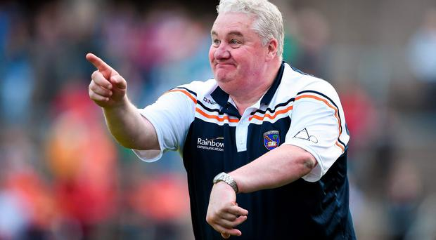Paul Grimley's Armagh side will now play Tyrone on Sunday rather than Saturday after discussions between the GAA and the PSNI. Photo: Brendan Moran / SPORTSFILE