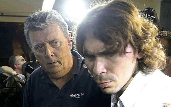 Ray Whelan (left) has been arrested in Brazil