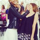 Jen and Emma backstage at Dior. Picture: Twitter