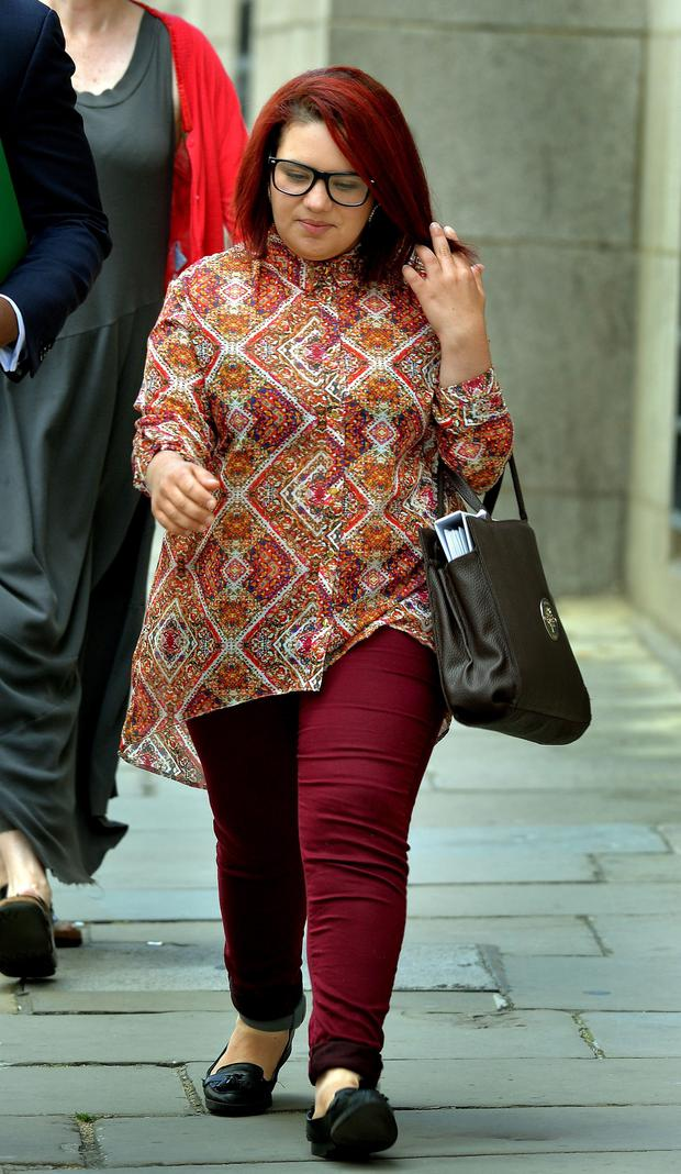 Amal El-Wahabi arrives at the Old Bailey in London, where it was heard that her close friend Nawal Msaad tried to smuggle cash in her underwear to fund jihadists fighting in Syria