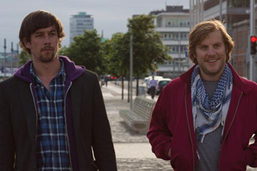 Killian Scott (L) and Peter Coonan in Get Up and Go