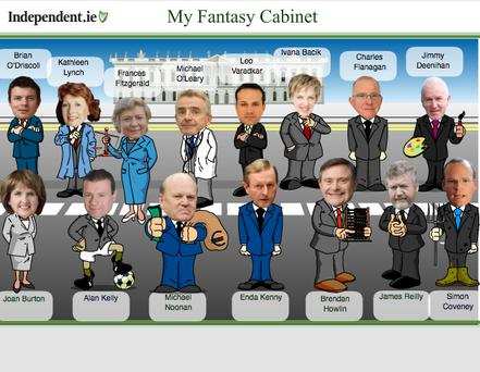 Lise Hand's fantasy Cabinet on Independent.ie