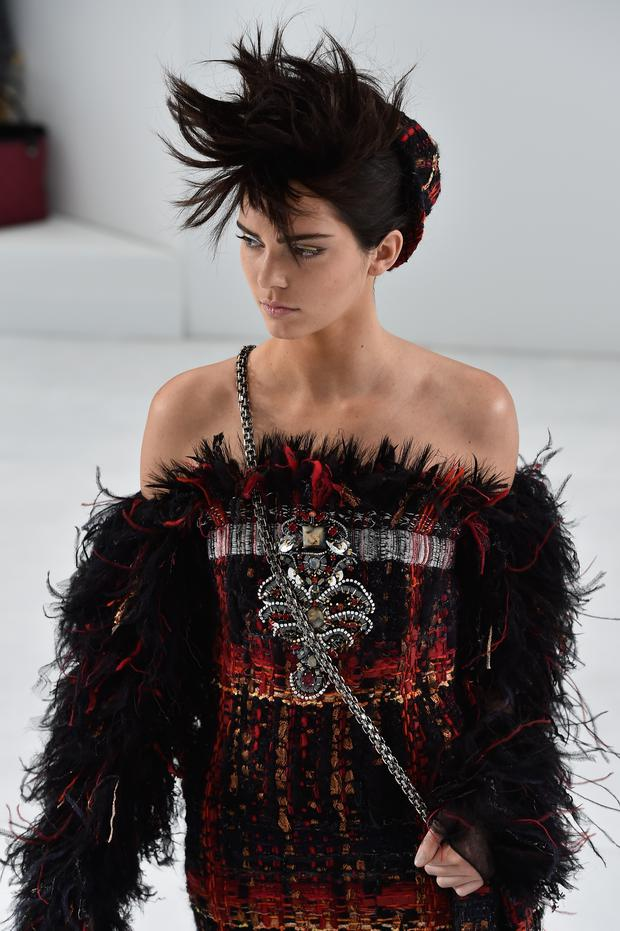 Kendall Jenner walks the runway during the Chanel show as part of Paris Fashion Week - Haute Couture Fall/Winter 2014-2015