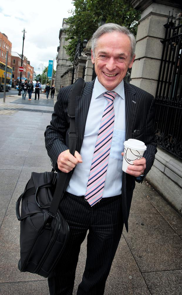 Richard Bruton,TD, the Minister for Jobs,Enterprise and Innovation at Leinster House following the Cabinet meeting at Government Buildings yesterday. Picture: Tom Burke