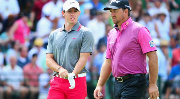 Europe's Ryder Cup captain Paul McGinley insists he has 'complete trust' in both Rory McIlroy and Graeme McDowell. Photo: Andrew Redington/Getty Images