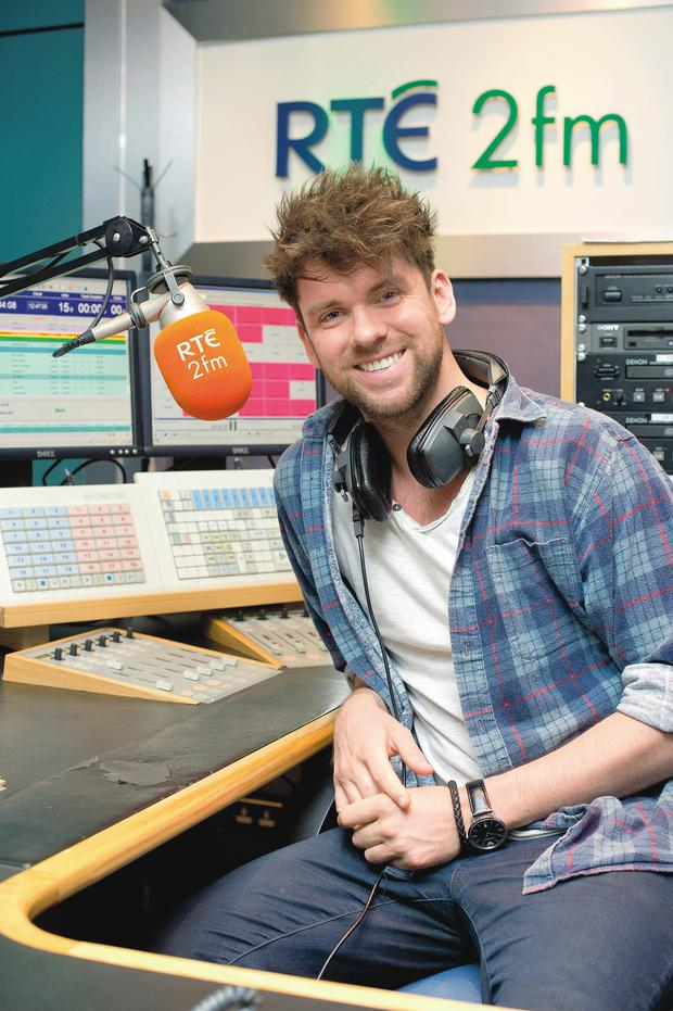 Eoghan McDermott freelance broadcaster/TV presenter at the RTE 2fm studios in Donnybrook. Photo: El Keegan
