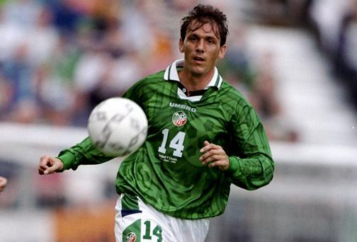 Tony Cascarino will join the Off The Ball team in Galway tomorrow night. Photo: Michael Cooper/Allsport