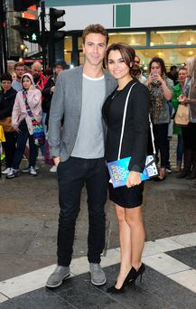 Samantha Barks and Richard Fleeshman attending the opening of the National TheatreÕs production of The Curious Incident of the Dog in the Night-Time at the Gielgud Theatre