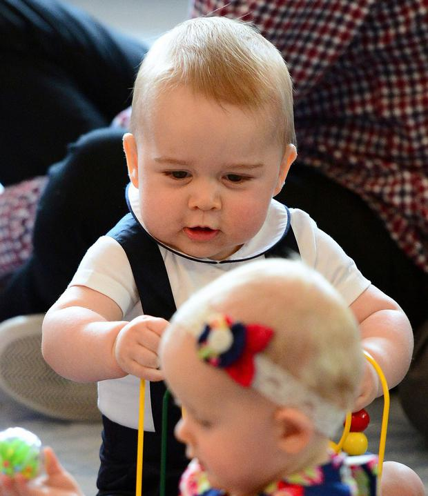 Prince George of Cambridge attends a playgroup in New Zealand