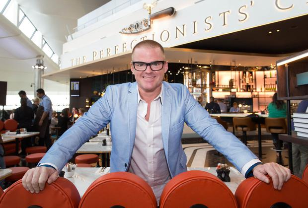 Heston Blumenthal at his Queen's Terminal cafe.