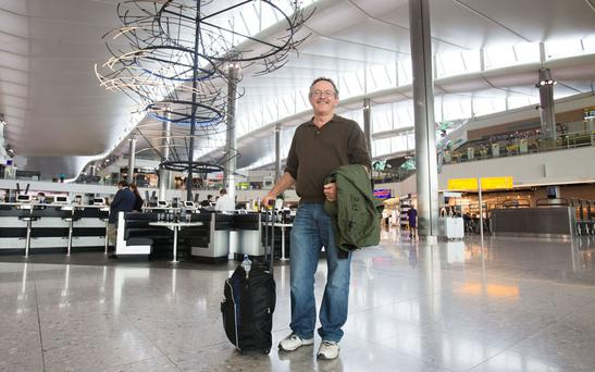 The first passenger at Heathrow's new Terminal 2.