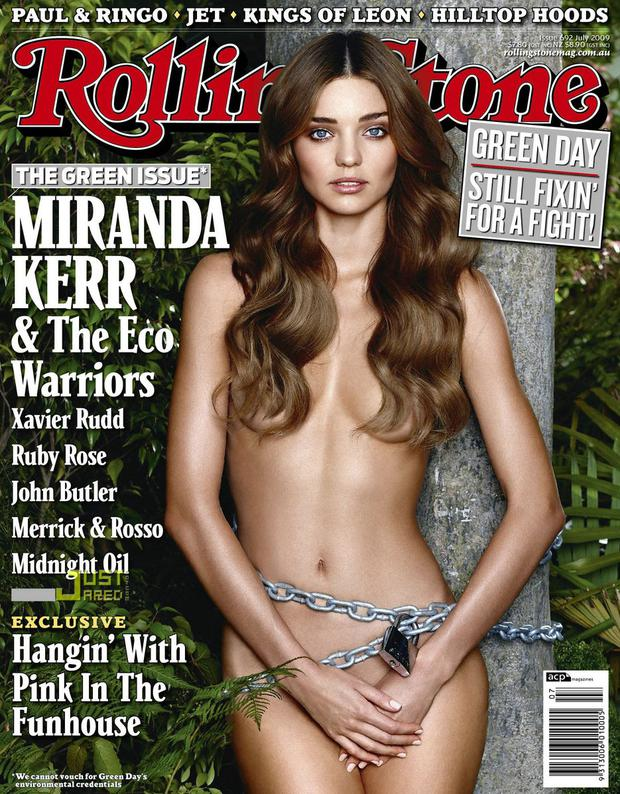 Miranda Kerr also took it all off for Rolling Stone