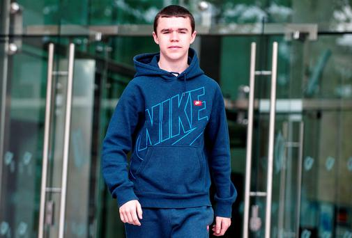 Love/Hate actor Leroy Harris leaving Dublin District Court yesterday