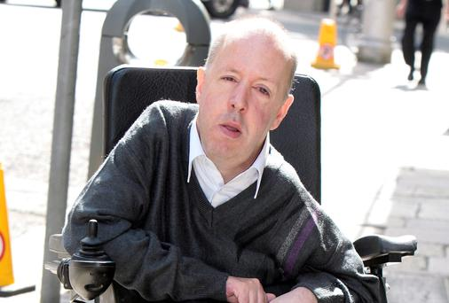 Pictured outside Buswells Hotel in Dublin is Joe Mooney, the CEO of Muscular Dystrophy Ireland. Picture: Tom Burke