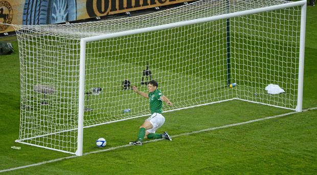 Darren O'Dea in action for Ireland