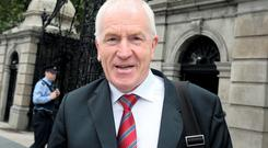 Jimmy Deenihan,TD,the Minister for Arts,Heritage & Gaeltacht at Leinster House following the Cabinet meeting at Government Buildings yesterday.