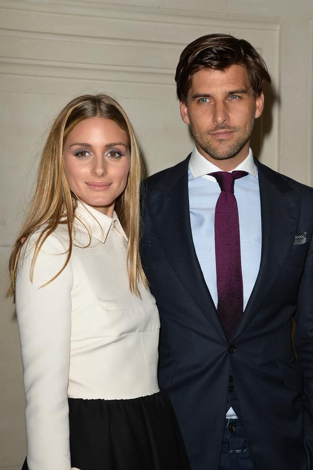 L R Olivia Palermo And Johannes Huebl Attend The Valentino Show As Part Of Paris