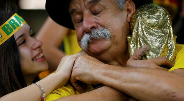 Clovis Acosta Fernandes weeping - during the World Cup semi-final defeat to Germany