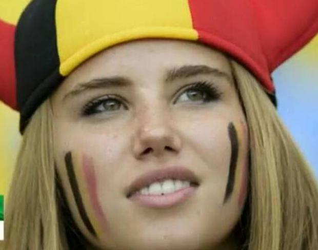 Axelle Despiegelaere, a 17-year old Belgium football fan, made headlines after she was photographed in her Red Devils outfit during the group stages of the World Cup.