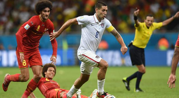 The US team, featuring captain Clint Dempsey, pushed Belgium close in their last-16 tie.