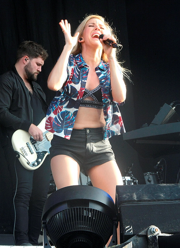 Ellie Goulding performing at Marlay Park on July 10 2014
