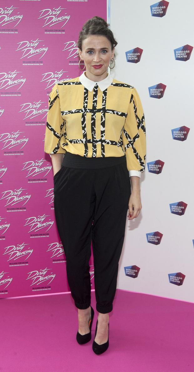 Charlene McKenna pictured at the opening of the musical Dirty Dancing