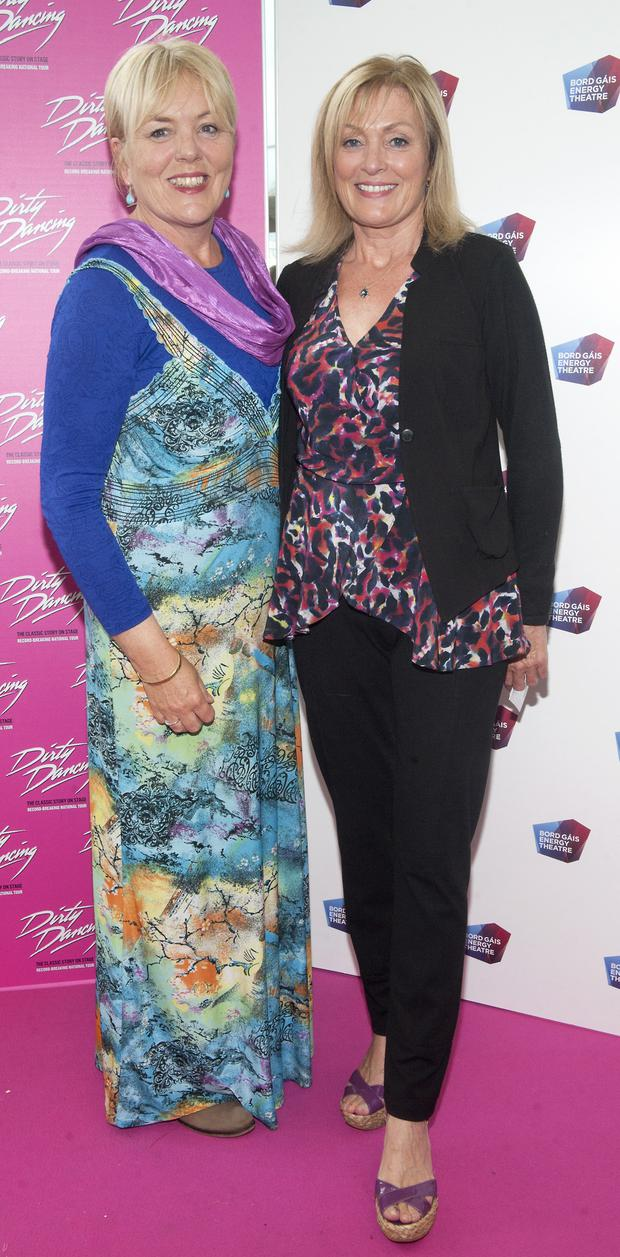 Deirdre Kennedy and Mary Kennedy pictured at the opening of the musical Dirty Dancing