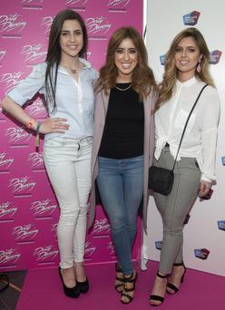 Babette Ryan, Lottie Ryan and Bonnie Ryan pictured at the opening of the musical Dirty Dancing