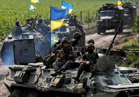 Ukrainian troops. Reuters