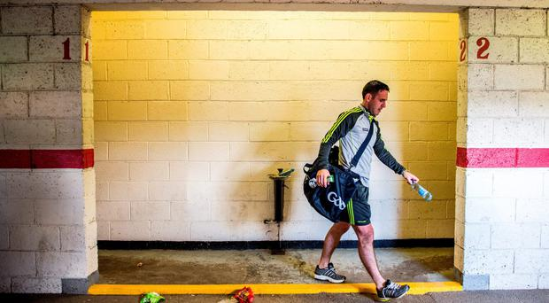 Declan O'Sullivan leaves the Páirc Ui Chaoimh dressing rooms after Kerry's victory against Cork in the Munster SFC final. Photo: Brendan Moran / SPORTSFILE
