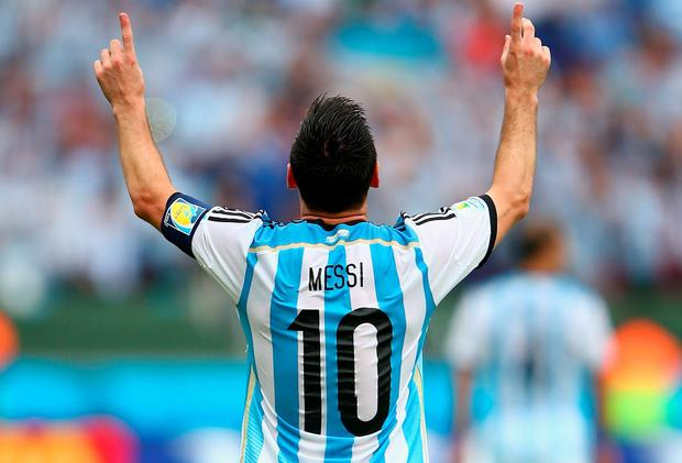 Lionel Messi would enter a footballing holy trinity along with Pele and Maradona if he can inspire Argentina to a World Cup win. Photo: Ian Walton/Getty Images