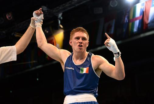 Jason Quigley will make take on Howard Reece in Las Vegas and will be looking to make a statement in what will be his first professional fight. Photo: Paul Mohan / SPORTSFILE