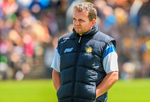 Clare manager Davy Fitzgerald will be anxious to avoid the humiliation of seeing his side have their All-Ireland defence brought to a premature end against Wexford today. Photo: Ray McManus / SPORTSFILE