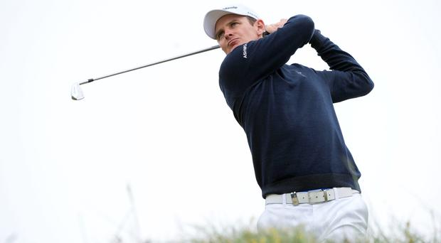 Justin Rose tees off at the 4th hole during day four of the Aberdeen Asset Management Scottish Open at Royal Aberdeen
