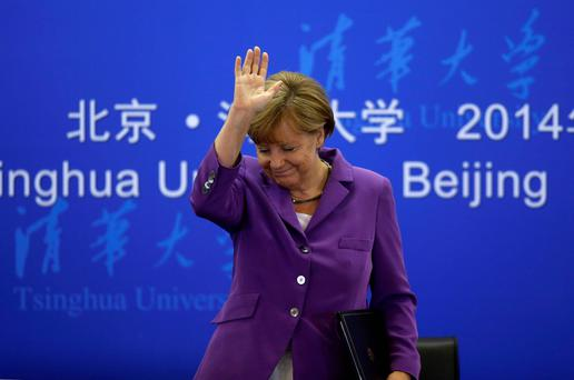 German chancellor Angela Merkel may leave office before the next general election in 2017. Photo: Reuters