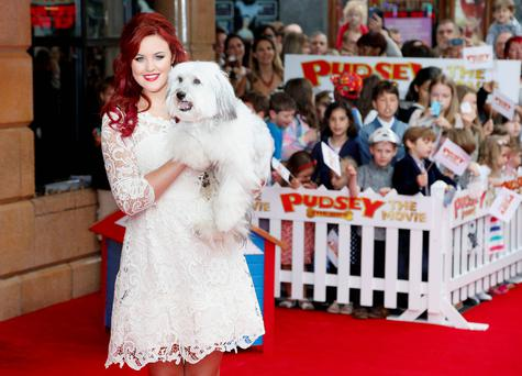 Ashleigh Butler and Pudsey attend the premiere of Pudsey The Dog: The Movie, held at Vue West End, Leicester Square, London. PA
