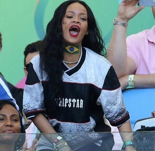 Rihanna cheers for Germany at the World Cup final