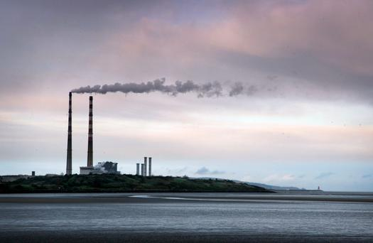Poolbeg Power station at the Pigeon House in Ringsend, Dublin City. Picture:Arthur Carron/Collins