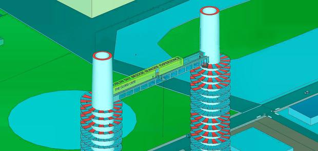 Interior designer Michael Ó'Mara's plan for the Poolbeg chimneys