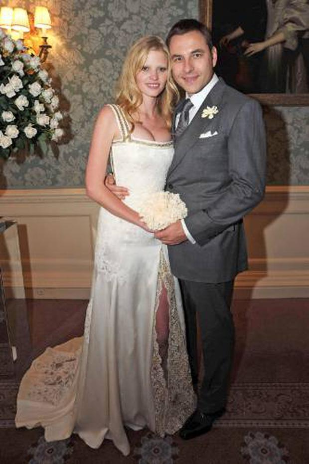 Lara Stone wed comedian and tv star David Walliams in an intimate ceremony in 2010