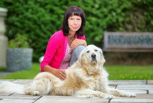 Nora Grant with her dog Sassie. Picture: Patrick Browne